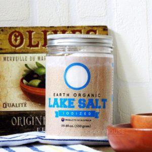 Earth Living Organic Lake Salt Iodized 550 gram